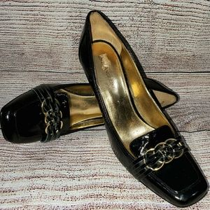 ENZO ANGIOLINI Patent Leather Pumps